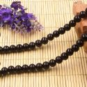 Beads, Glass, Black , Round shape, Diameter 8mm, 10 Beads, [BHB0154]